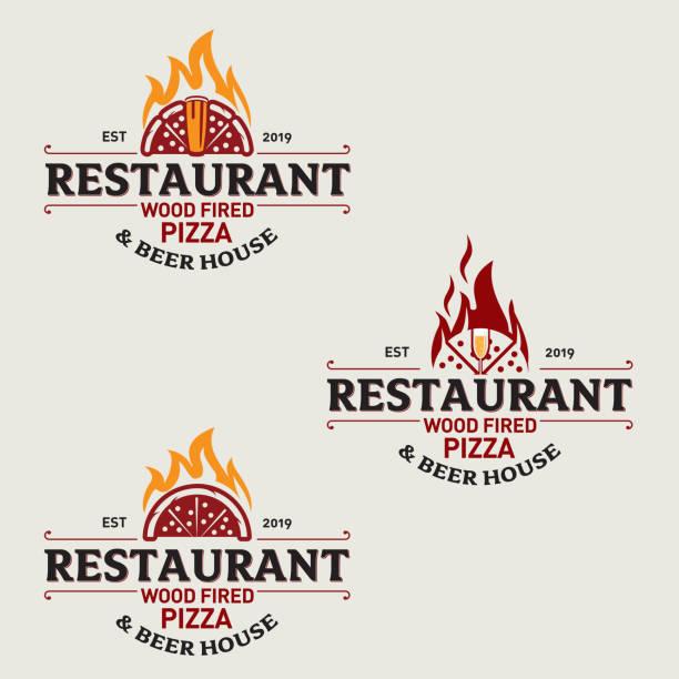 pizza restaurant set 1 - pizzeria stock-grafiken, -clipart, -cartoons und -symbole
