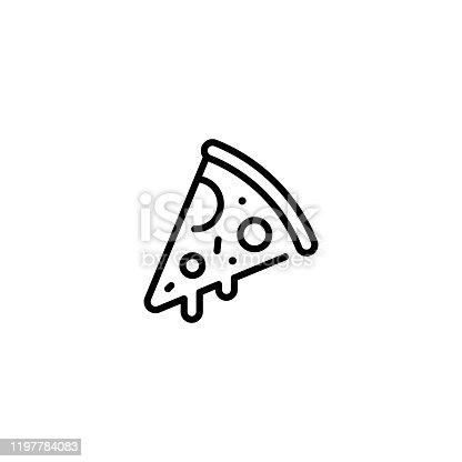 istock Pizza Slice Food Icon Logo 1197784083