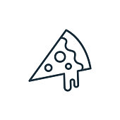 istock pizza slice icon vector from food concept. Thin line illustration of pizza slice editable stroke. pizza slice linear sign for use on web and mobile apps, logo, print media.. 1269969300