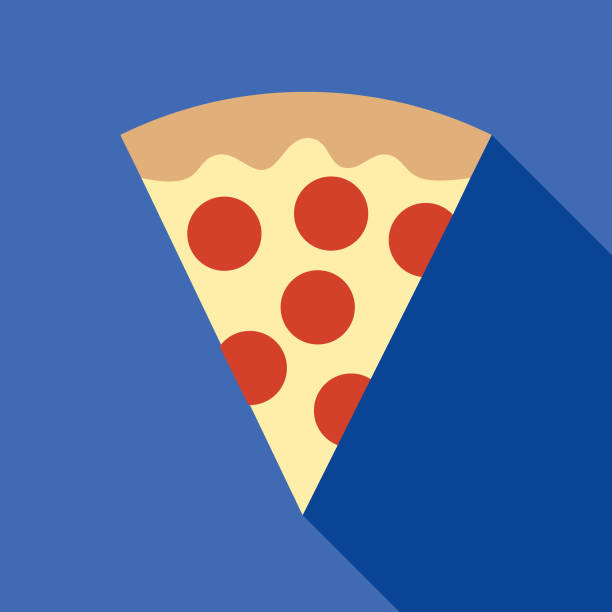 Pizza Slice Icon vector art illustration