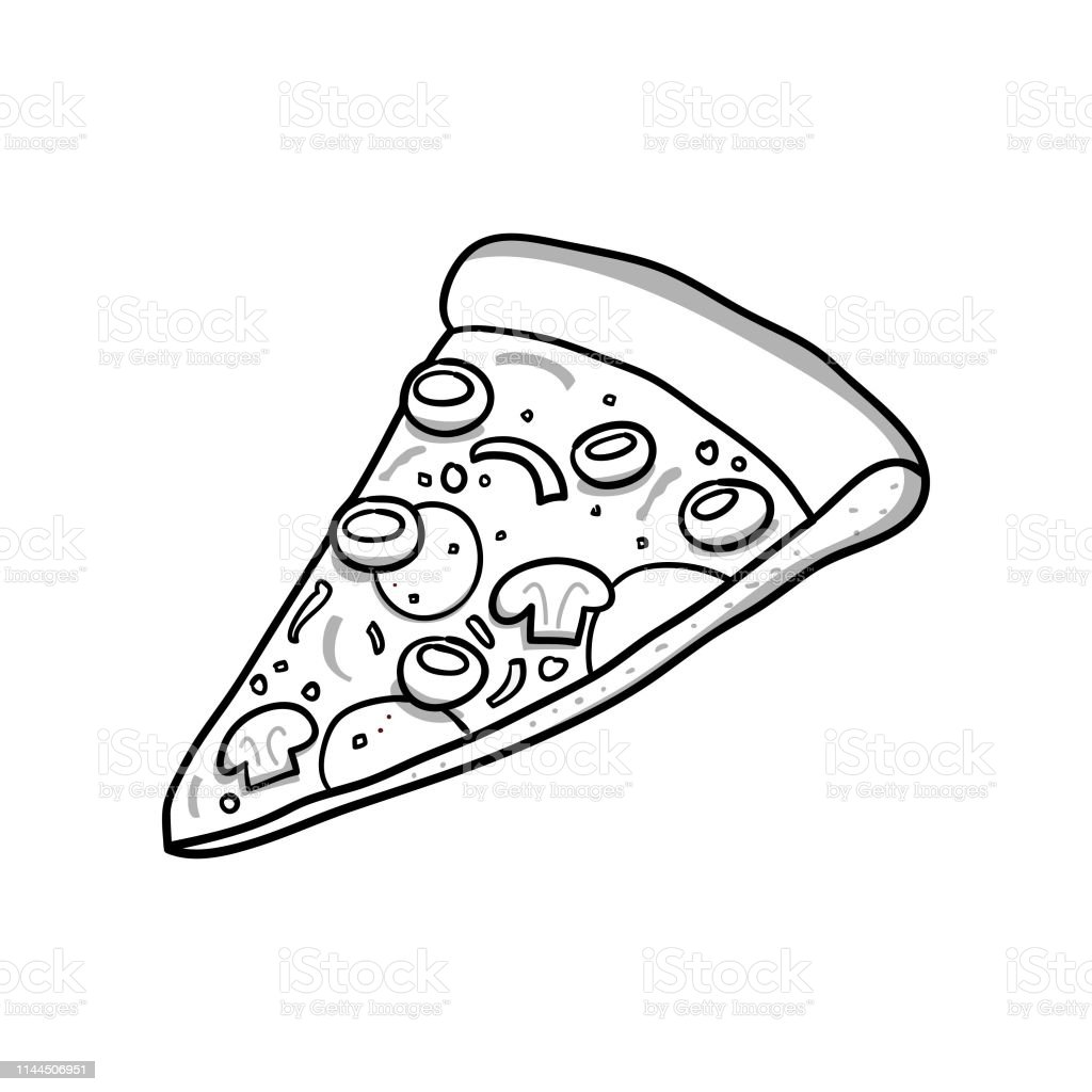 Slice Of Pizza Vector Illustration With Hand Drawn Style Pizza Doodle  Vector, Pizza, Slice, Food PNG and Vector with Transparent Background for  Free Download in 2020   Pizza slice drawing, Pizza vector,