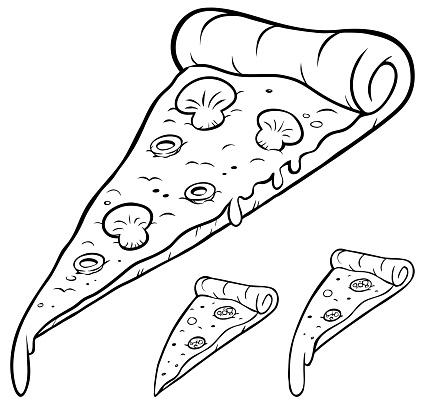 Pizza Slice Line Art