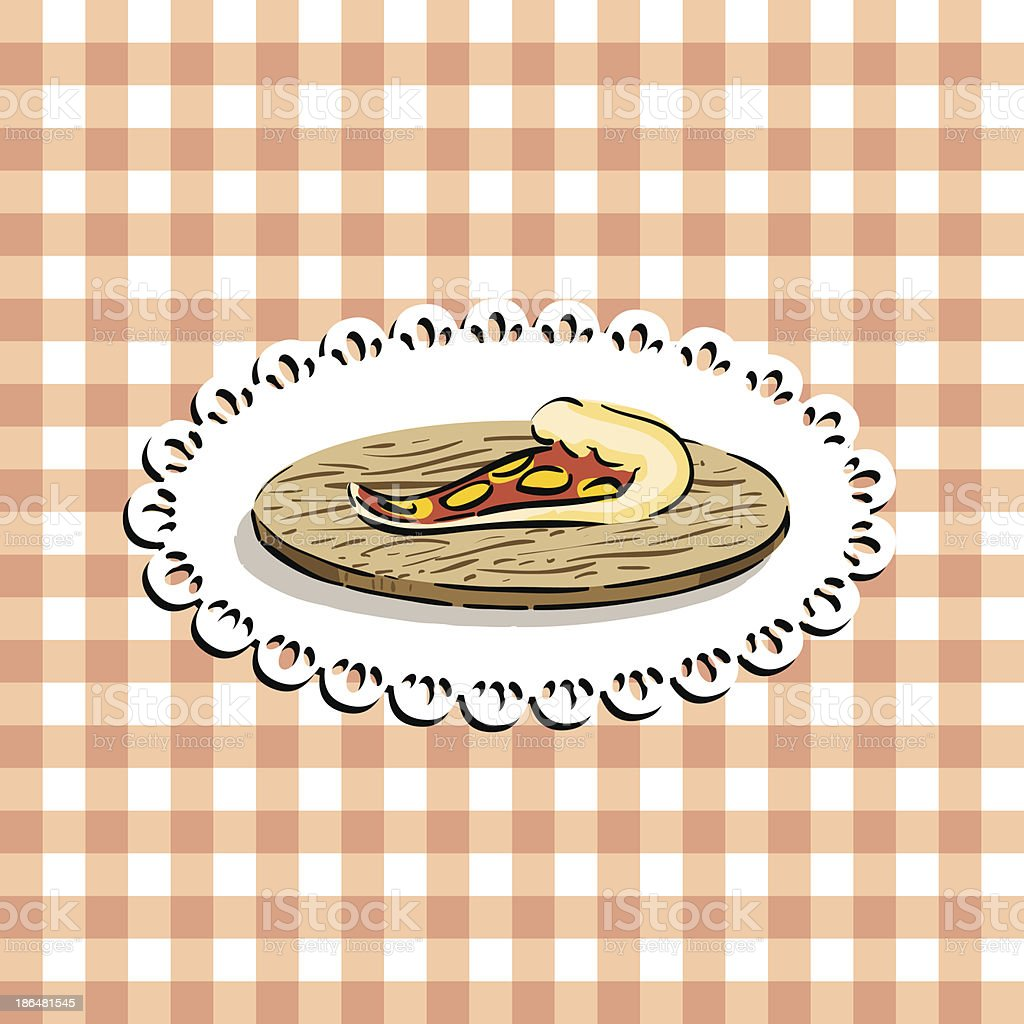Pizza slice royalty-free stock vector art