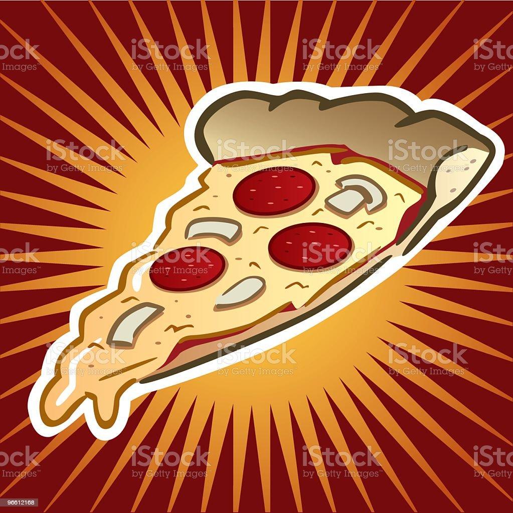 Pizza Slice - Royaltyfri Frestelse vektorgrafik