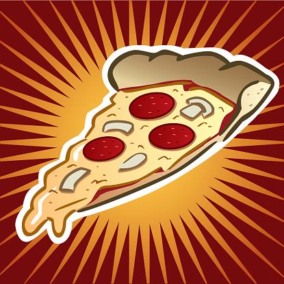 Pizza Slice-vektorgrafik och fler bilder på Frestelse