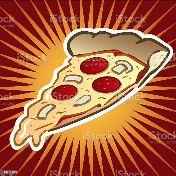 Пицца Ломтик — стоковая векторная графика и другие изображения на тему Без людей