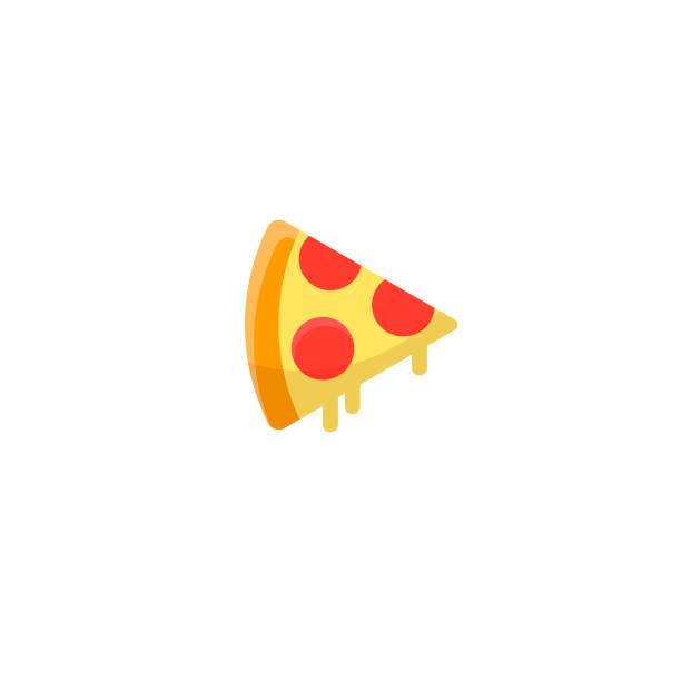 ilustraciones, imágenes clip art, dibujos animados e iconos de stock de rebanada de pizza con queso y pepperoni. - pizza