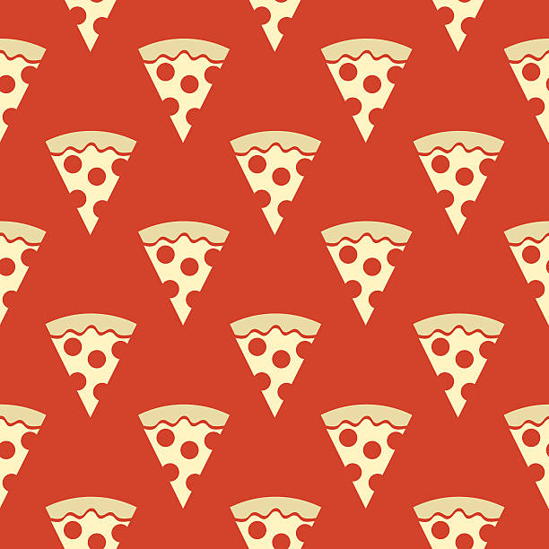 Pizza Slices Seamless Pattern vector art illustration