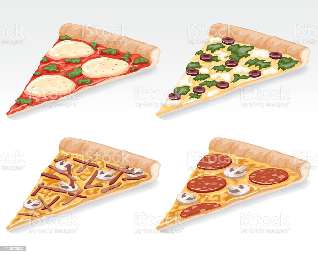 Pizza Slices vector art illustration
