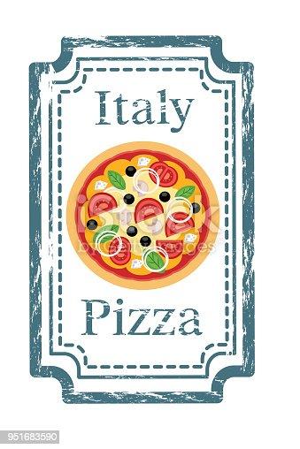 istock Pizza Stamp 951683590