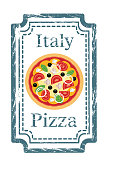 Vector Pizza Stamp