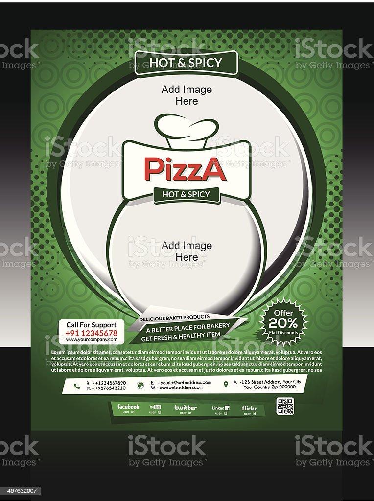 Pizza Tienda Flyer Plantilla - Arte vectorial de stock y más ...