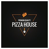pizza fast symbol design background 10 eps