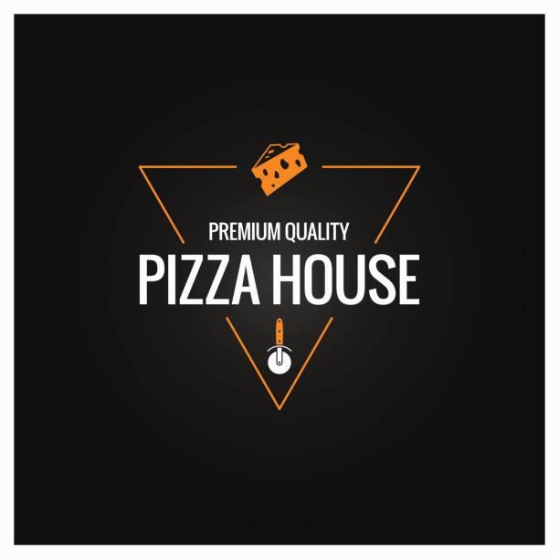 pizza-symbol-design-hintergrund - pizzeria stock-grafiken, -clipart, -cartoons und -symbole