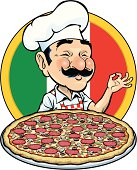 The chef has prepared for you a delicious combination pizza. Elements grouped on different layers. Comes with a zip file with an alternate color version without gradients.