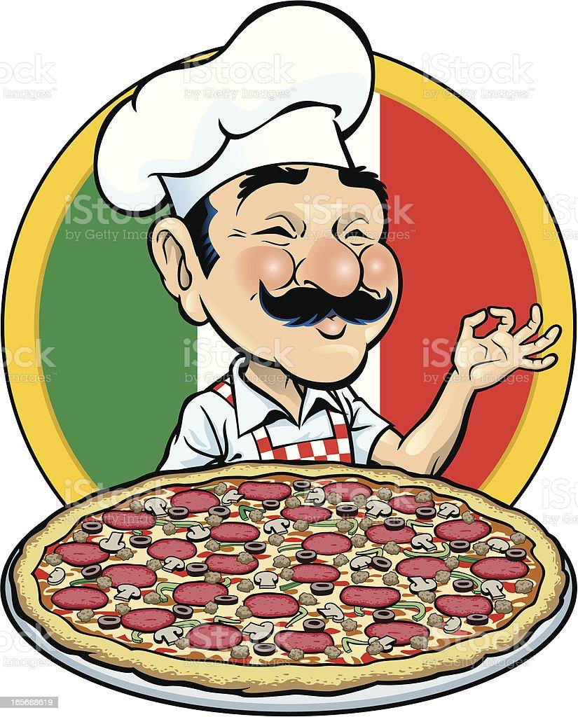 Pizza Time vector art illustration