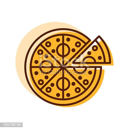 istock Pizza vector icon. Fast food sign 1244787161