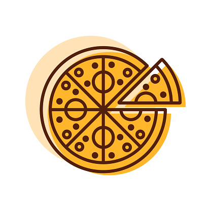 Pizza vector icon. Fast food sign