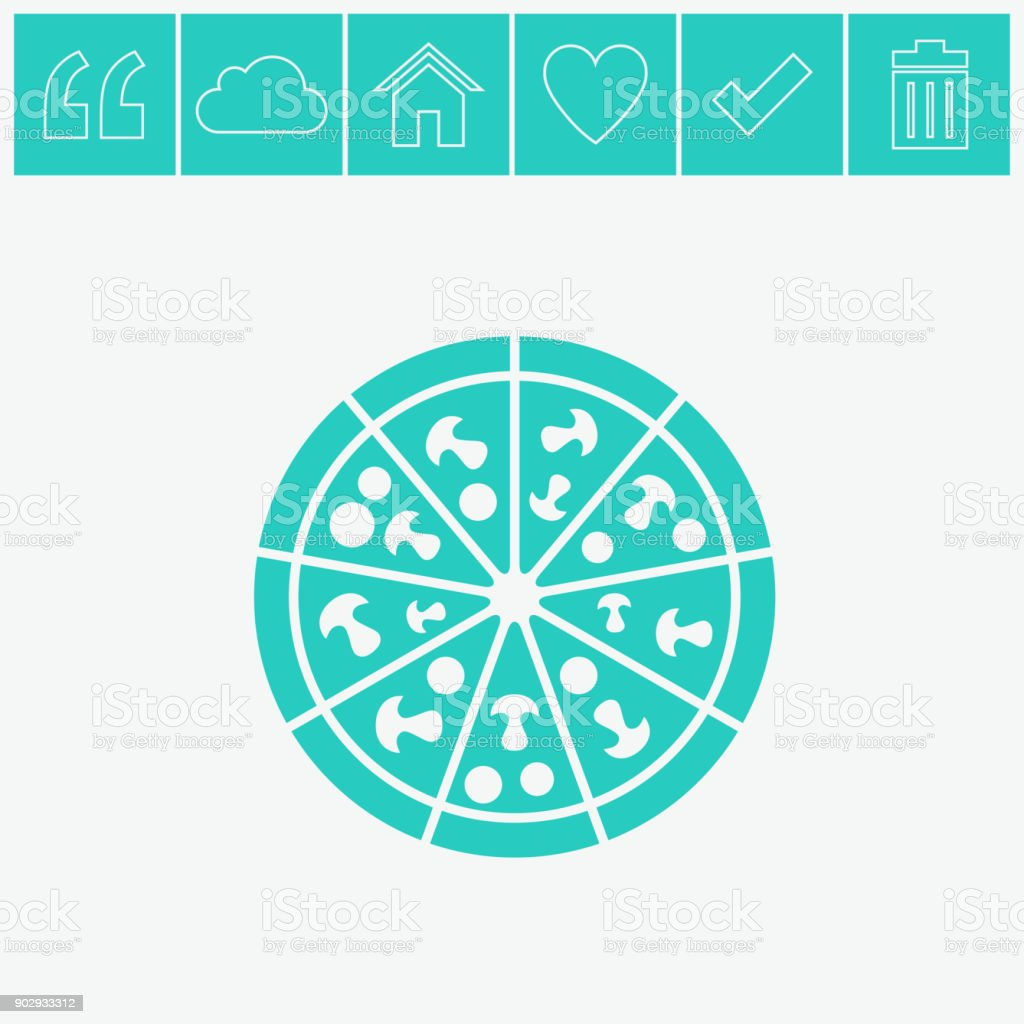 Pizza vector icon. vector art illustration
