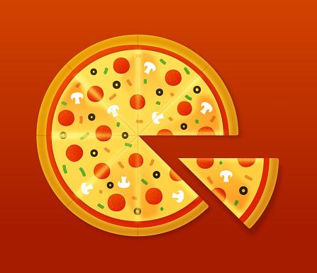 Pizza Stock Vektor Art und mehr Bilder von Ansicht von oben