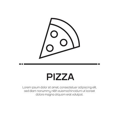 Pizza Vector Line Icon - Simple Thin Line Icon, Premium Quality Design Element