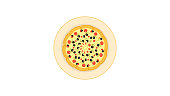 Pizza vector with white background Icon