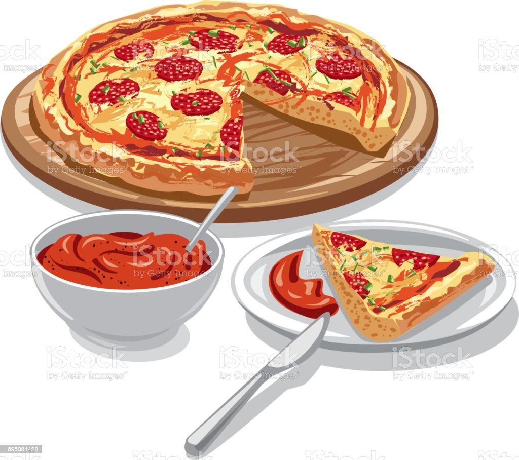 トマト ソース ピザ