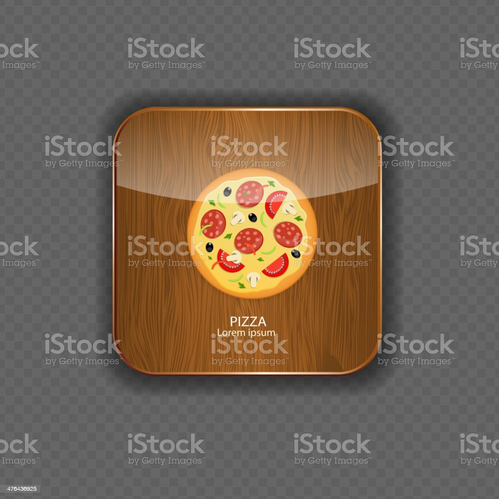 Pizza wood application icons vector illustration royalty-free stock vector art