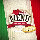 vector pizzeria menu brochure cover design template