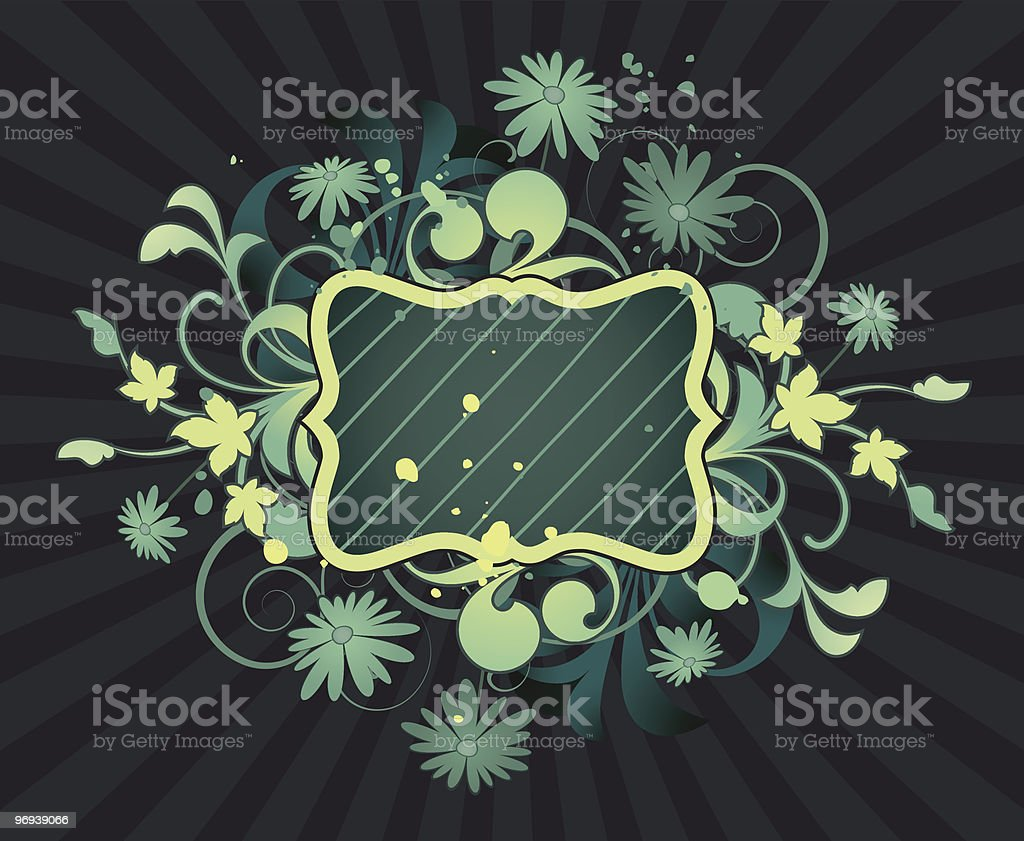 Placard with floral elements royalty-free placard with floral elements stock vector art & more images of abstract