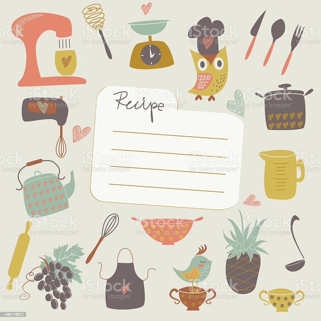 Place for recipe vector art illustration