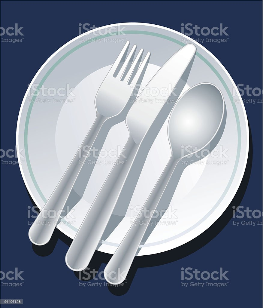 Place setting royalty-free stock vector art