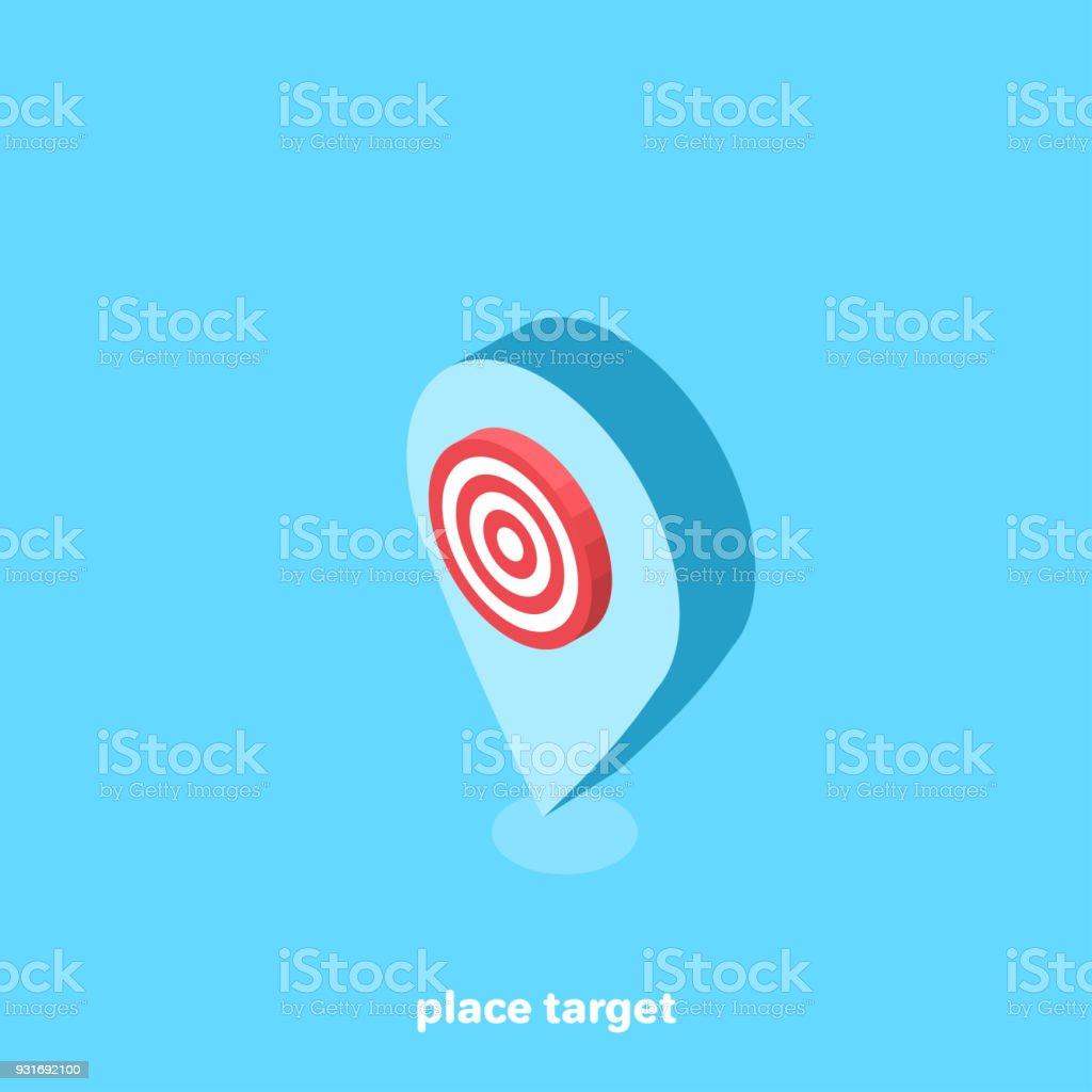 place target vector art illustration