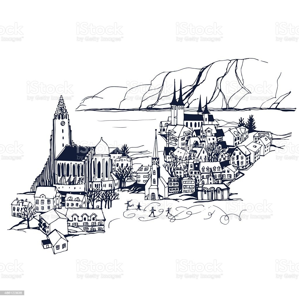 Places and Architecture around the World vector art illustration