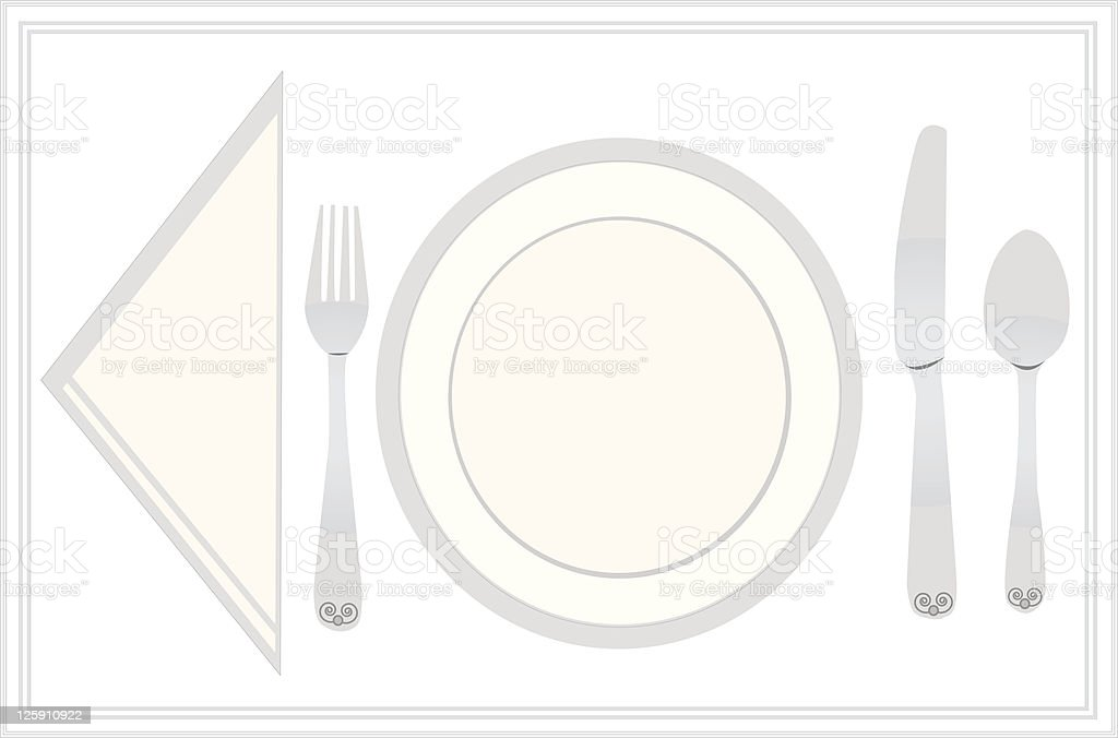 Placesetting royalty-free stock vector art