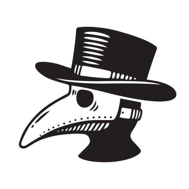 Plague doctor illustration vector art illustration