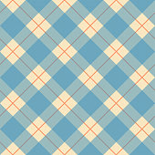Seamless plaid pattern on textured fabric. A versatile retro vector illustration. Global colors, EPS 10, easy to modify.
