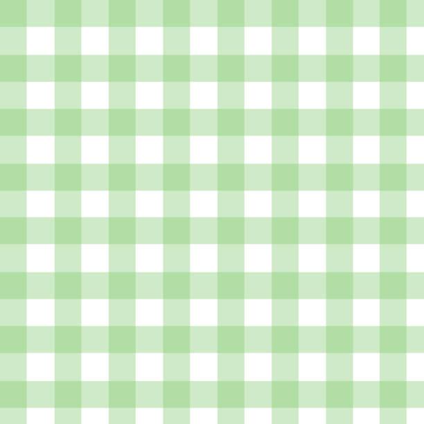 ilustraciones, imágenes clip art, dibujos animados e iconos de stock de patrón de verificación a cuadros en verde y blanco. impresión de textura de tejido sin costuras. - fondos de franela