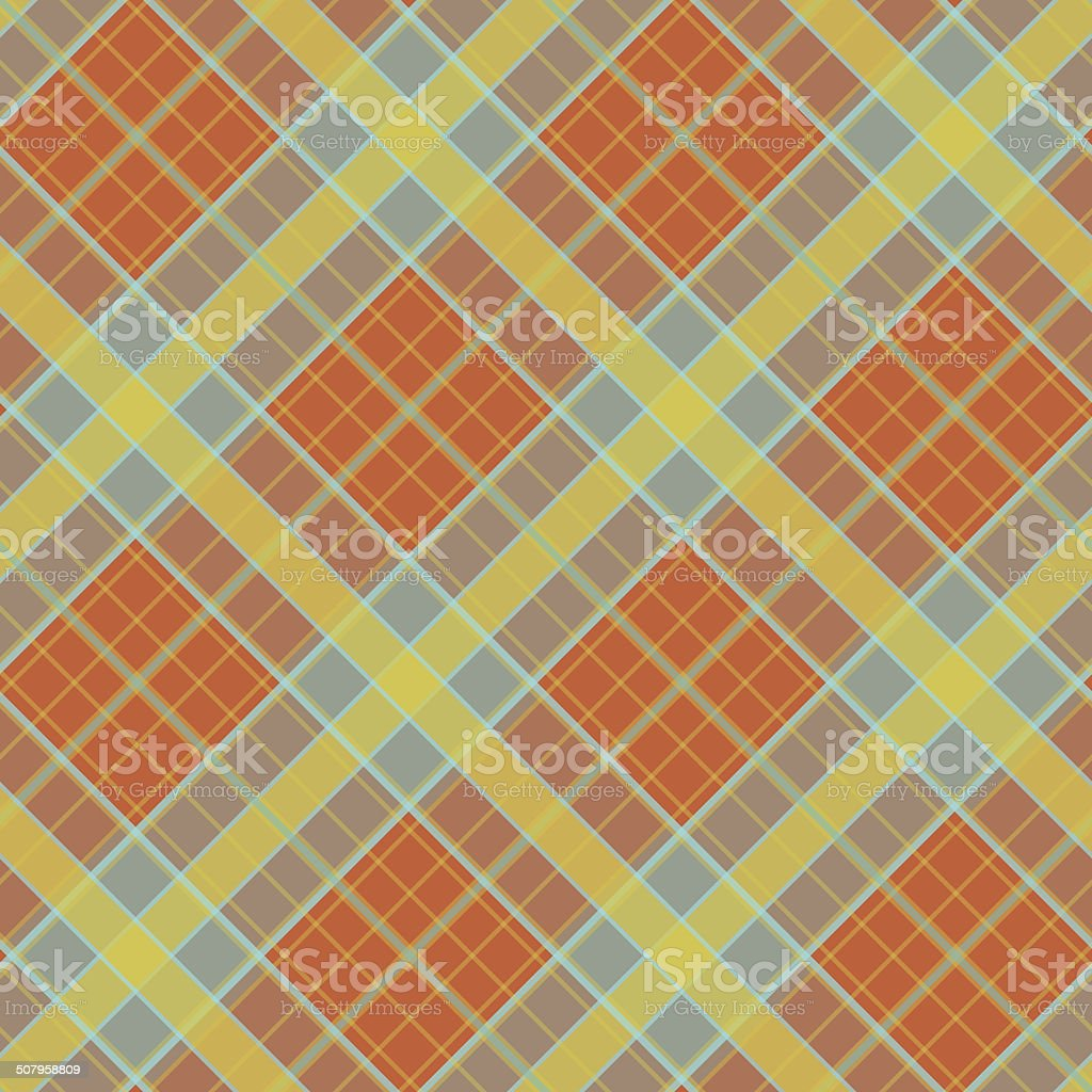 Plaid colorful fabric. Checkered vector background. Abstract Seamless pattern. royalty-free stock vector art