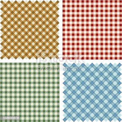 istock Plaid Fabric background set 158693928