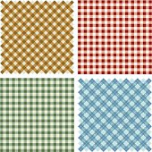 Plaid Fabric background set
