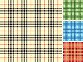 Plaid Fabric set