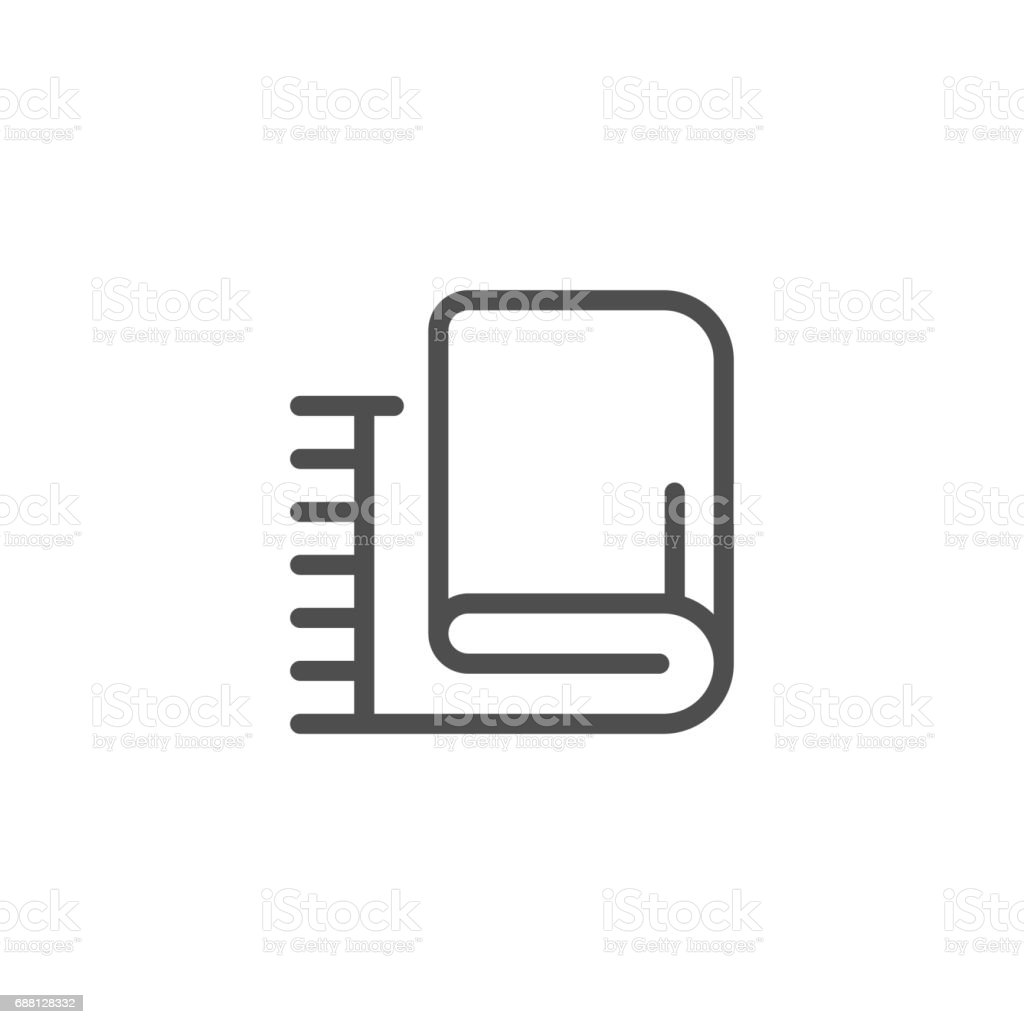 Plaid line icon vector art illustration