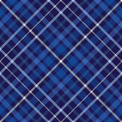 Plaid pattern in blue, navy and white.