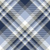 istock Plaid pattern in blue, navy, pale taupe and white. 1177481160