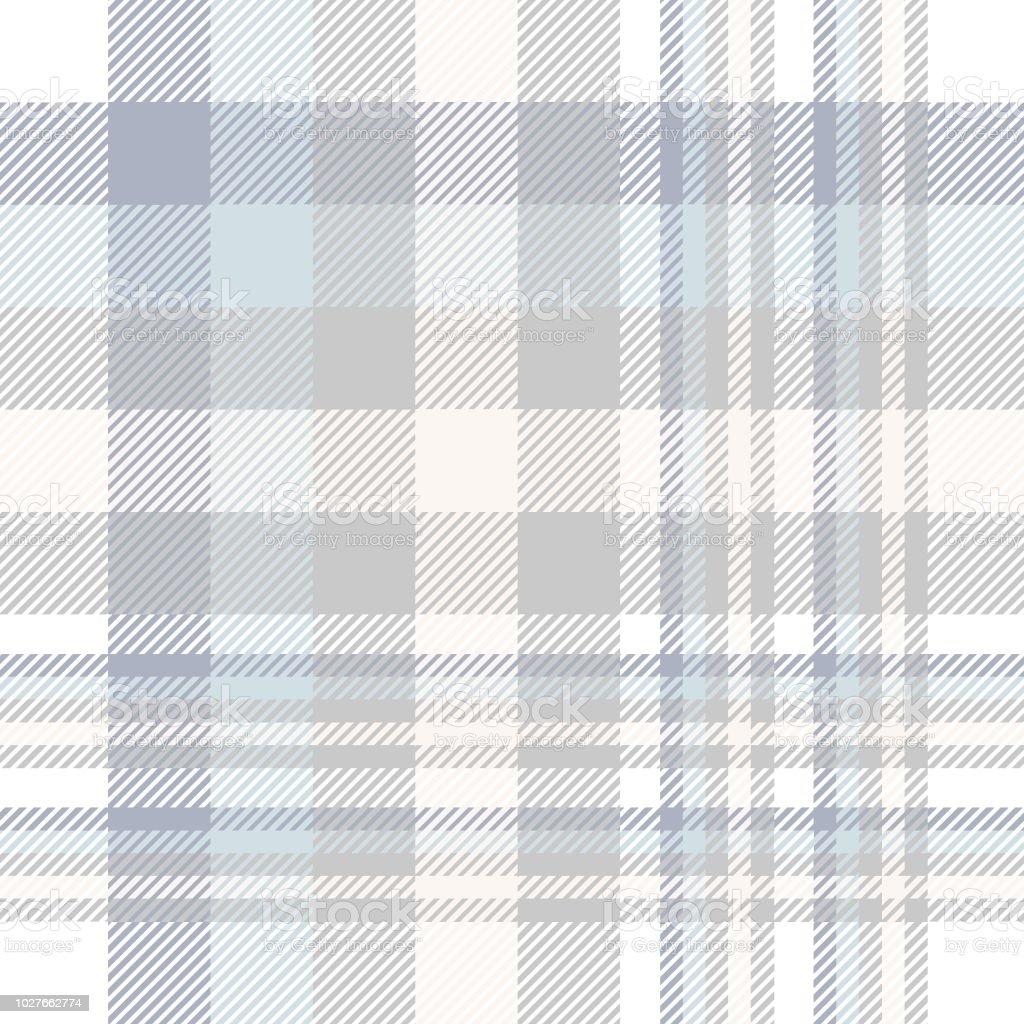 Ilustración de Patrón De Tela Escocesa En Azul Pastel Gris Beige Y ...
