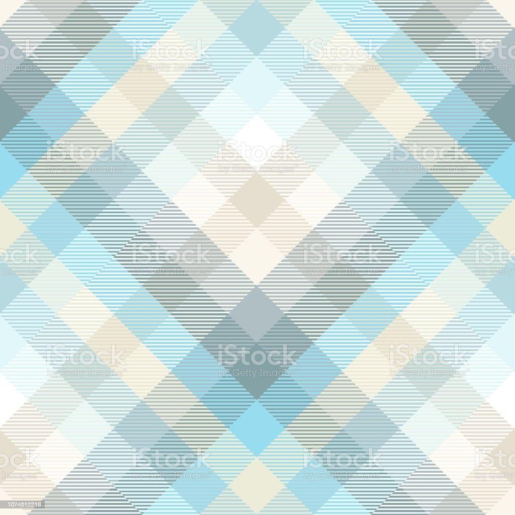 Patrón de cuadros en tonos azul pastel, verde azulado y tan - ilustración de arte vectorial