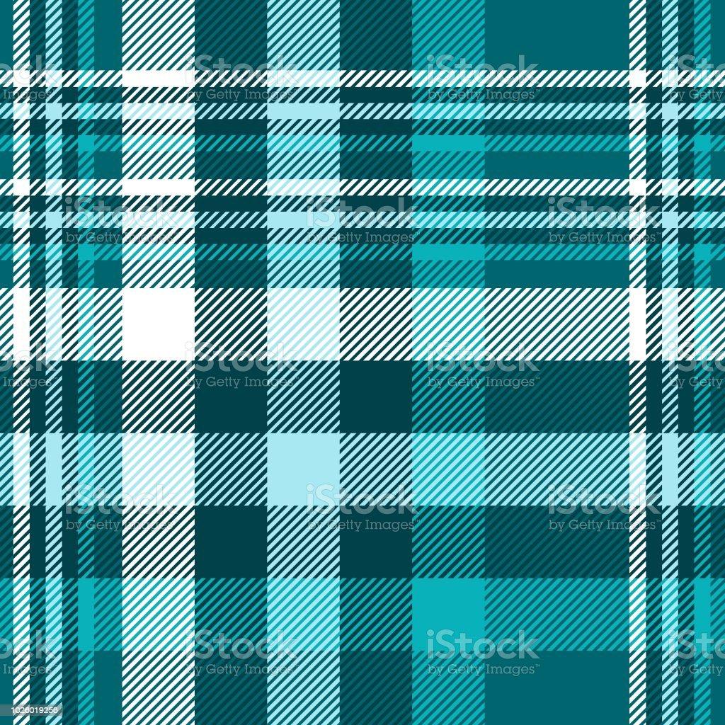 Karomuster In Den Farben Petrol Grun Blau Und Weiss Stock Vektor Art