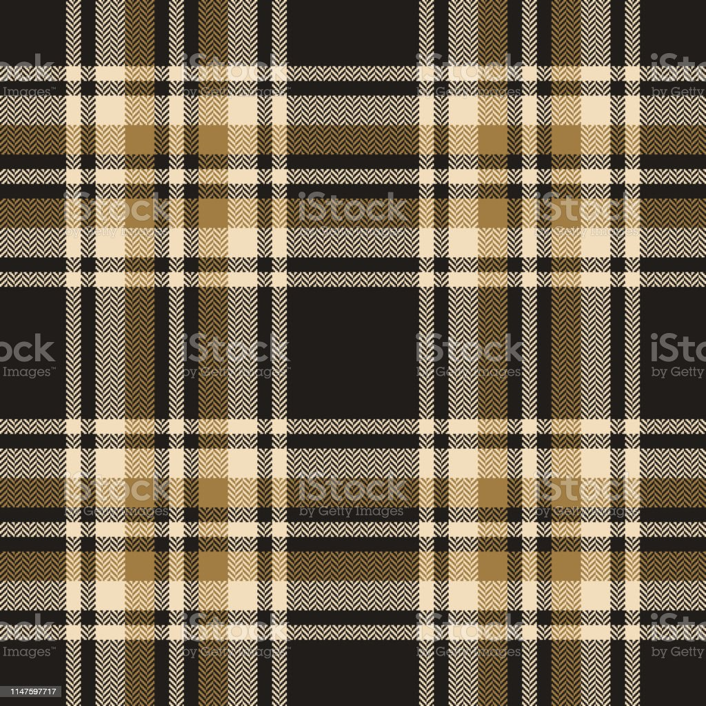 Plaid pattern seamless vector background. Herringbone tartan check...