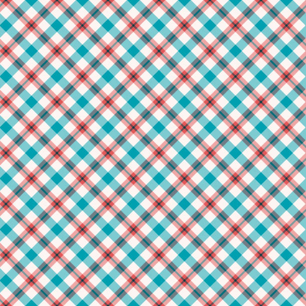 plaid pattern - flannel backgrounds stock illustrations, clip art, cartoons, & icons